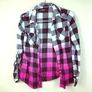 Fox Racing Ombré Plaid Button up